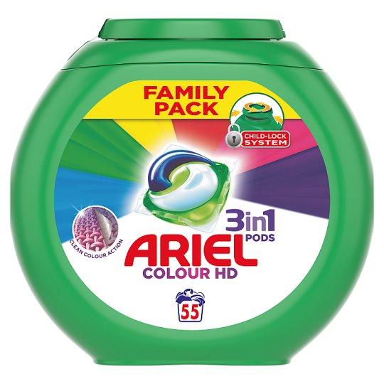 Ariel 3In1 Color Washing Capsules 55 Washes