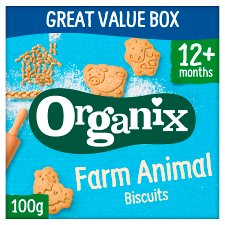 Organix 12 Month Goodies Animal Biscuits 100G