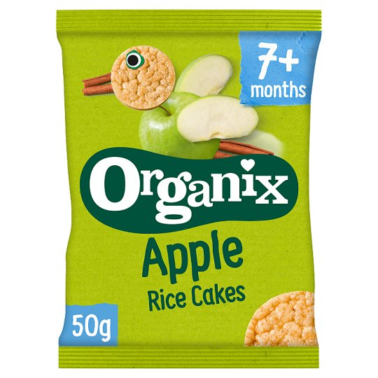 Organix 7 Month Rice Cakes Apple 50G