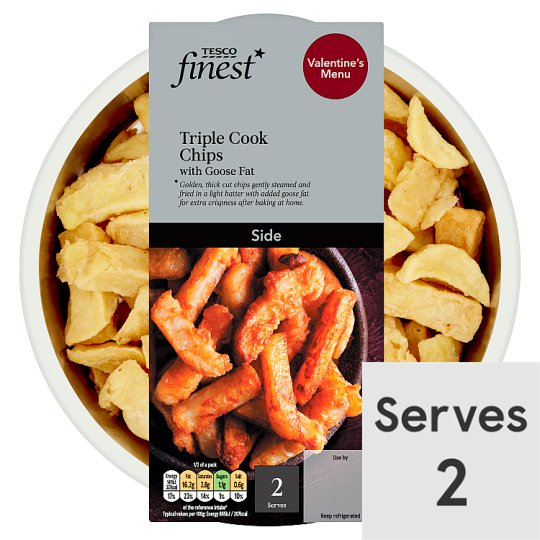 Tesco Finest Triple Cooked Chips Goose Fat 400G