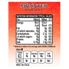 image 3 of Monster Ultra Red Energy Drink 4X500ml