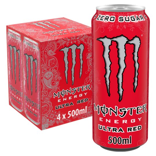 image 1 of Monster Ultra Red Energy Drink 4X500ml