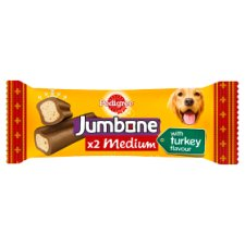 Pedigree Jumbone Medium Turkey Dog Chews 2 Pack 200G