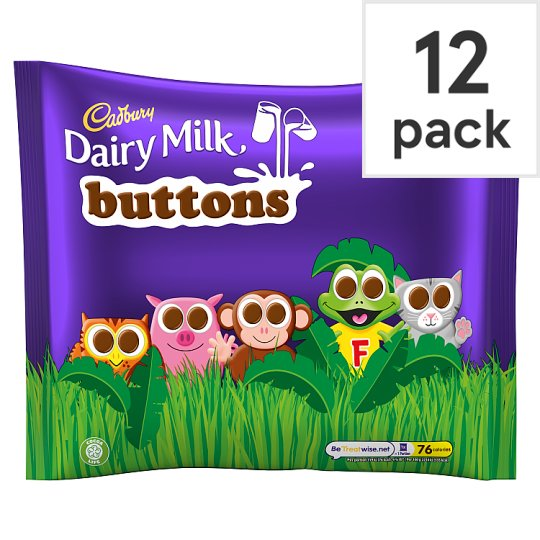 image 1 of Cadbury Dairy Milk Buttons Chocolate Treat Size Minis 12 Pack 170G