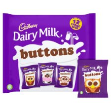 image 2 of Cadbury Dairy Milk Buttons Chocolate Treat Size Minis 12 Pack 170G