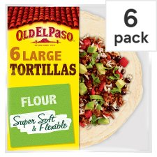 image 1 of Old El Paso Large Super Soft Flour Tortillas 6 Pack 350G