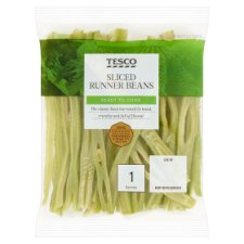 Tesco Traditional Sliced Runner Beans 80G