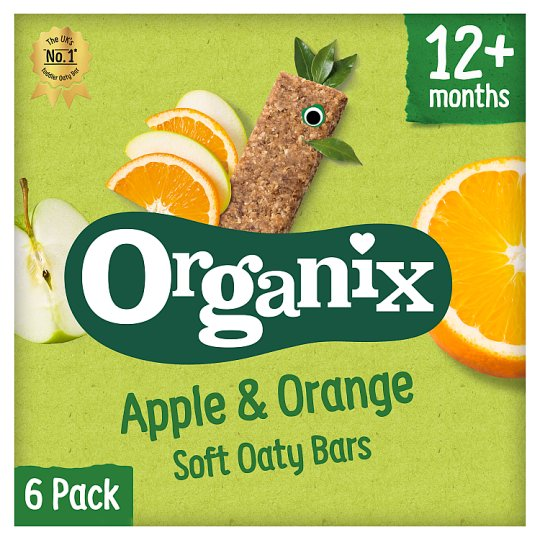 Organix 12 Month Apple And Orange Fruit And Cereal Bar 6X30g