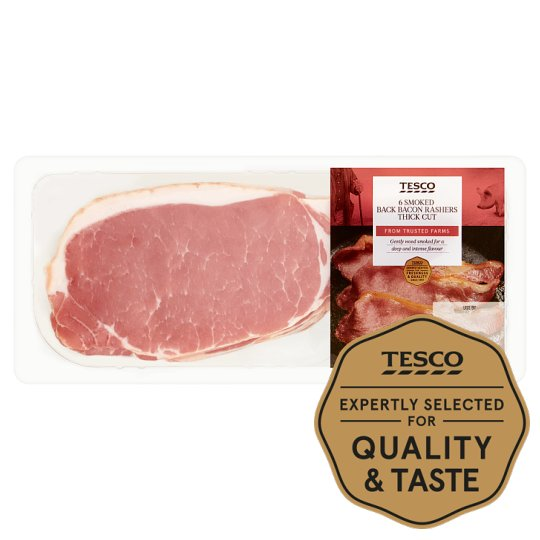 Tesco Smoked Thick Cut Back Bacon 300G