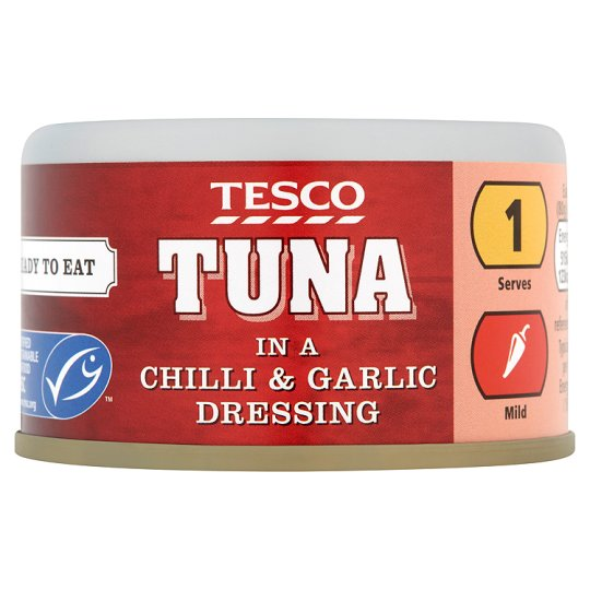 Tesco Tuna In Chilli And Garlic Dressing 80G