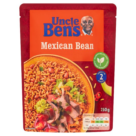 Uncle Bens Microwave Mexican Beans Rice 250G