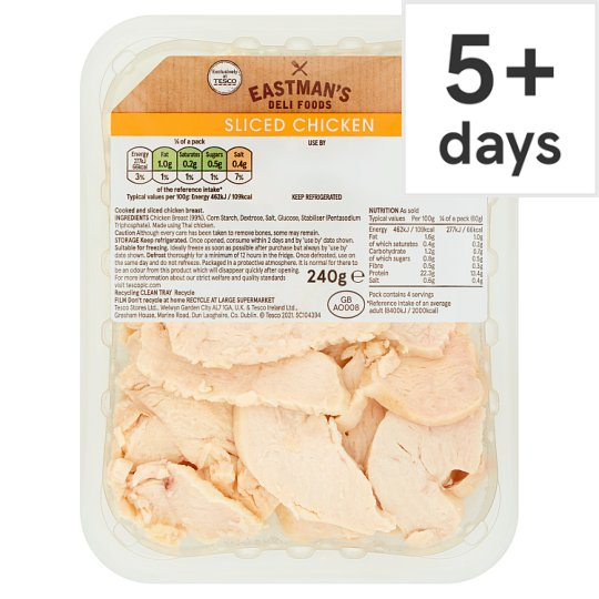 Eastman's Sliced Cooked Chicken 240G