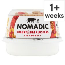 Nomadic Strawberry Oat Clusters Low Fat Yogurt 169G