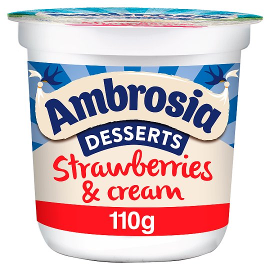 Ambrosia Desserts Strawberries And Cream 110G