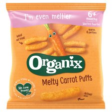 Organix 7 Month Crunchy Sticks Carrot 20G