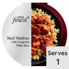 Tesco Finest Beef Madras And Rice 450G