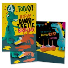 Hallmark Birthday Card 4 Happy Dino- Tastic Birthday