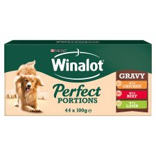 Winalot Perfect Portions Cuts In Gravy Beef Chicken Lamb 44X100g