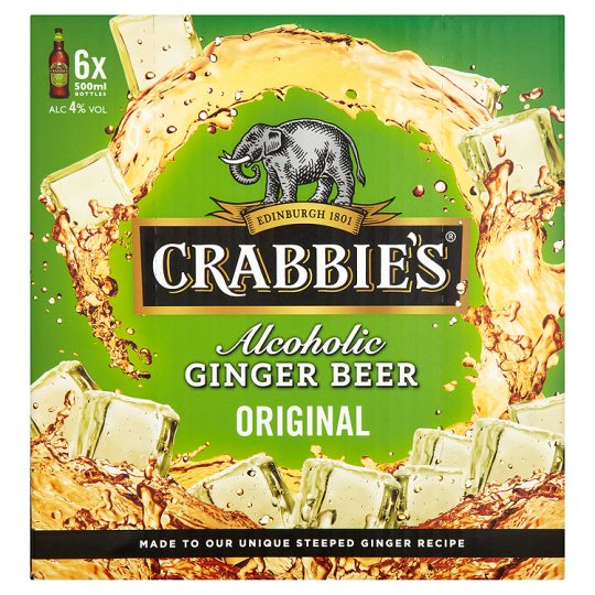 Crabbies Ginger Beer 6X500ml