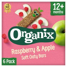Organix 12 Month Apple And Raspberry Fruit And Cereal Bar 6X30g