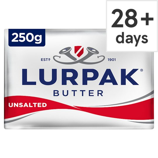 Lurpak Unsalted Block Butter 250G