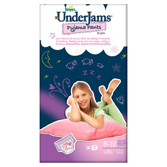 Pampers Underjams Size 8 For Girls 9 Pyjama Pants