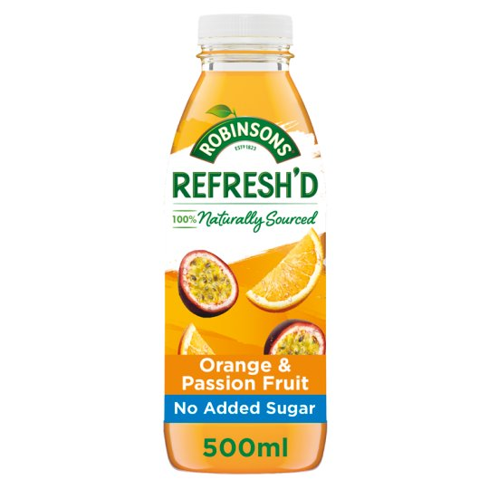 Robinsons Refresh'd Orange And Passion Fruit 500Ml