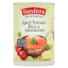 Baxters Vegetarian Spicy Tomato And Rice Sweetcorn Soup 400G
