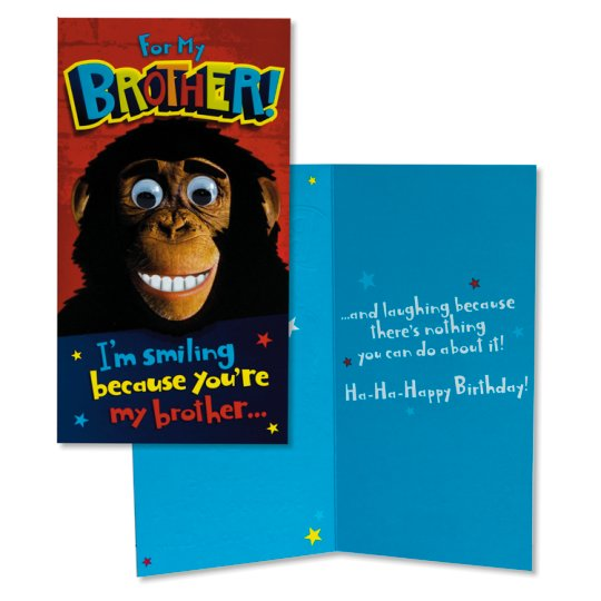 Hallmark Birthday Card Brother Humour