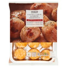 Tesco Tomato Garlic And Cheese Doughballs 200G