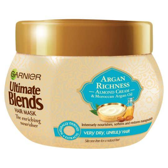 image 1 of Ultimate Blends Argan Oil And Almond Cream Dry Hair Mask 300Ml