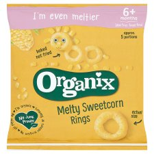 Organix 7 Month Crunchy Rings Sweetcorn 20G