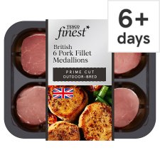 Tesco Finest British Pork Fillet Medallions 300G