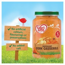 image 2 of Cow & Gate Succulent Pork Casserole Jar 200G 7 Mth+