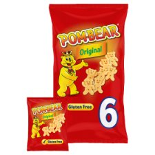 Pom Bear Original Potato Snacks 6 X 15G