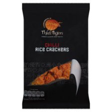 Three Tigers Chilli Rice Crackers 125G