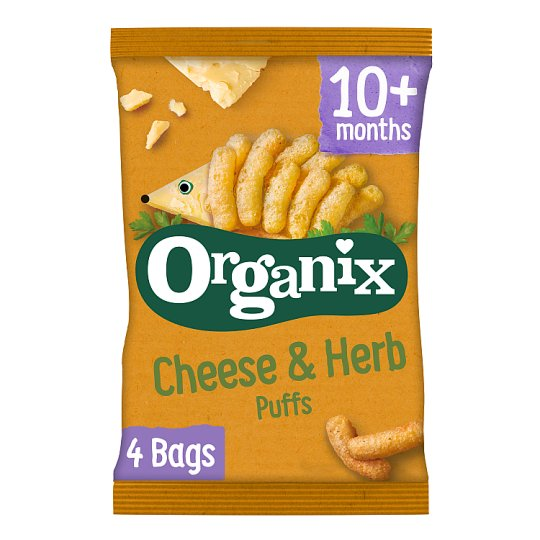 image 1 of Organix 12 Month Goodies Cheese And Herb Puffs 4X15g