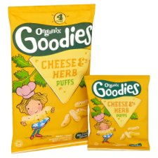 image 2 of Organix 12 Month Goodies Cheese And Herb Puffs 4X15g