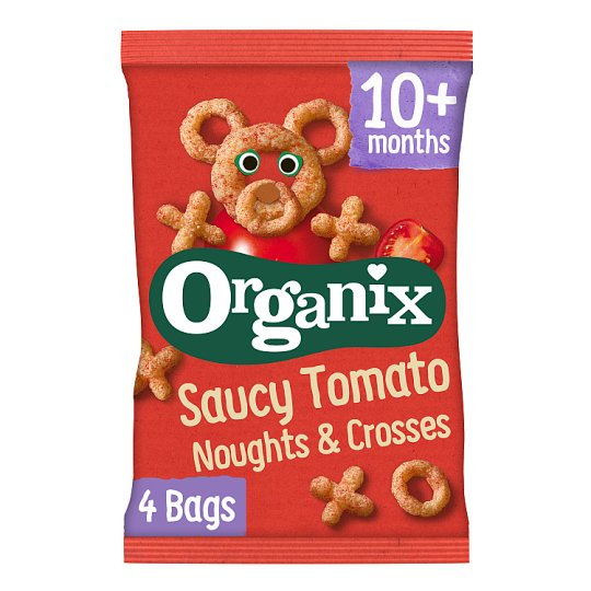 Organix Tomatoe Saucy Noughts And Crosses 4X15g
