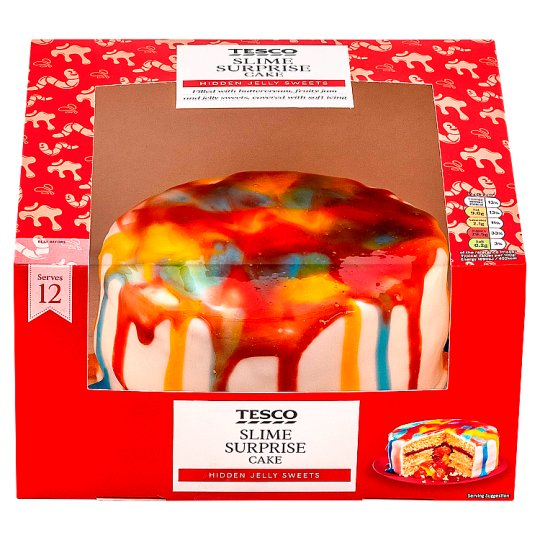 Tesco Slime Surprise Cake