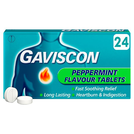 image 1 of Gaviscon Original Peppermint 24 Tablets