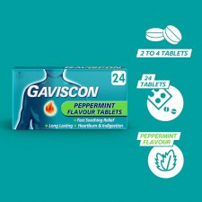 image 2 of Gaviscon Original Peppermint 24 Tablets
