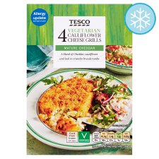Tesco 4 Vegetarian Cauliflower Cheese Grills 397G