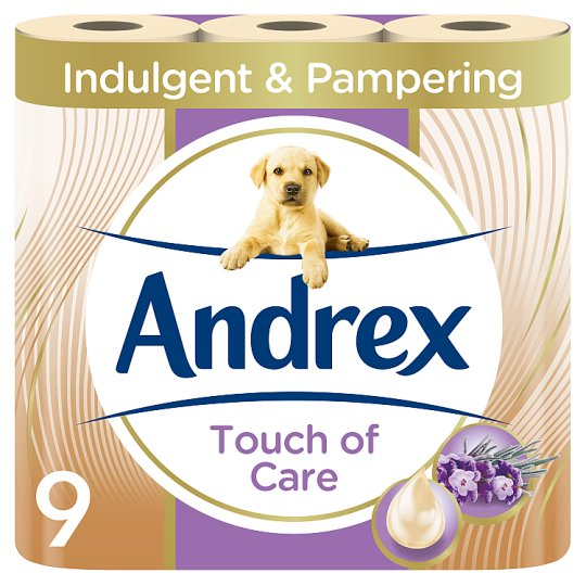 Andrex Toilet Tissue 9 Roll Shea Butter