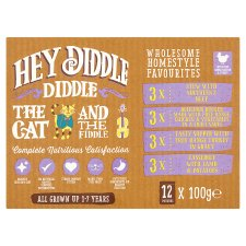 Hey Diddlediddle Favourite Cat Food Pouches 12 X100g