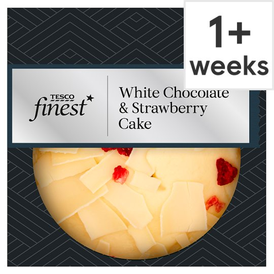 Tesco Finest White Chocolate And Strawberry Cake