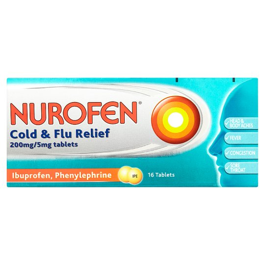 image 1 of Nurofen Cold And Flu Ibuprofen 200Mg Tablets 16 Pack