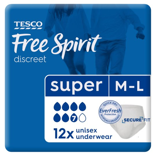 Tesco Freespirit Super Protection Large Pants 12 Pack