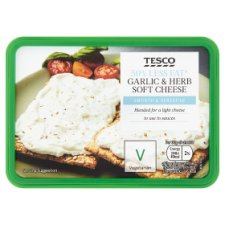 Tesco 50% Less Fat Garlic And Herb Soft Cheese 150G
