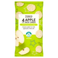 Tesco Apple Rice Cakes 4 X 20G